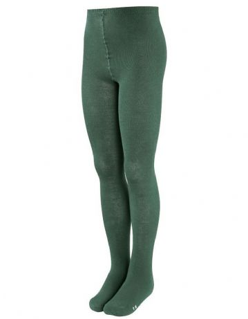 Bottle Green Cotton Rich Tights (2 pack)